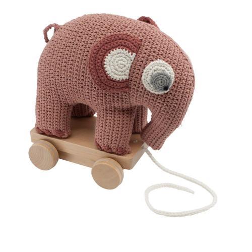 Dragdjur, elefanten Fanto - ljus rosa