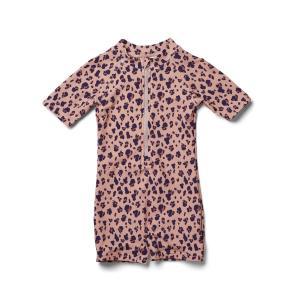 Max swim jumpsuit - mini leo/coral blush