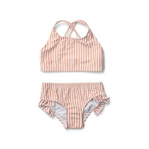Juliet bikini seersucker - coral blush / creme de la creme
