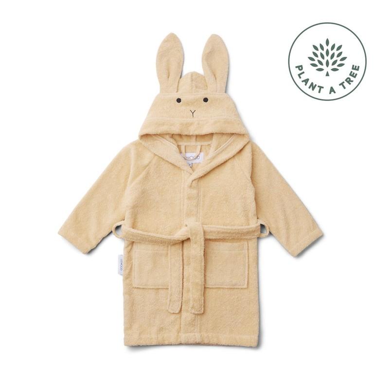 Lily bathrobe - Rabbit smoothie yellow