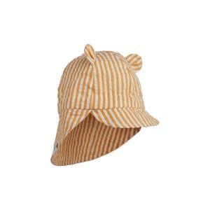 Gorm sun hat - mustard/white