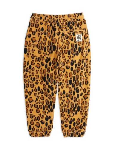Leopard fleecebyxa
