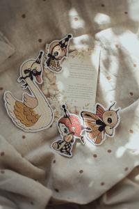 4-Pack Patches – Dear Swan, Birdie, Butterfly & Miss Gertrud