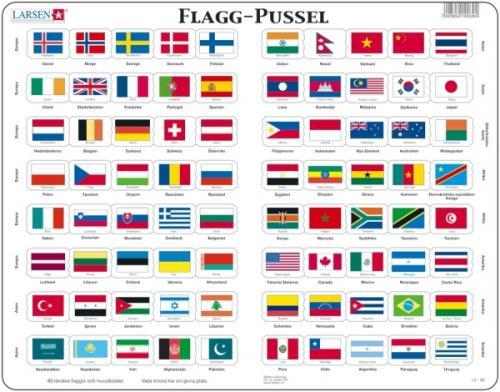 Pussel - världens flaggor