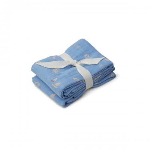 Lewis Muslin Cloth 2pack - Seaside Sky Blue