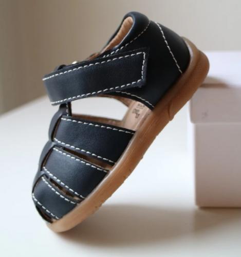 BabyMocs - Little gardener sandal navy