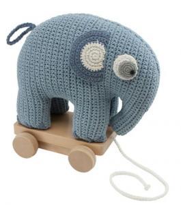 Dragdjur, elefanten Fanto - pulverblått