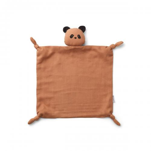 Agnete Cuddle Cloth - Panda tuscany rose