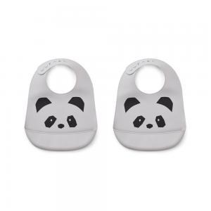 TILDA SILIKON HAKLAPP 2 PACK - Panda dumbo grey