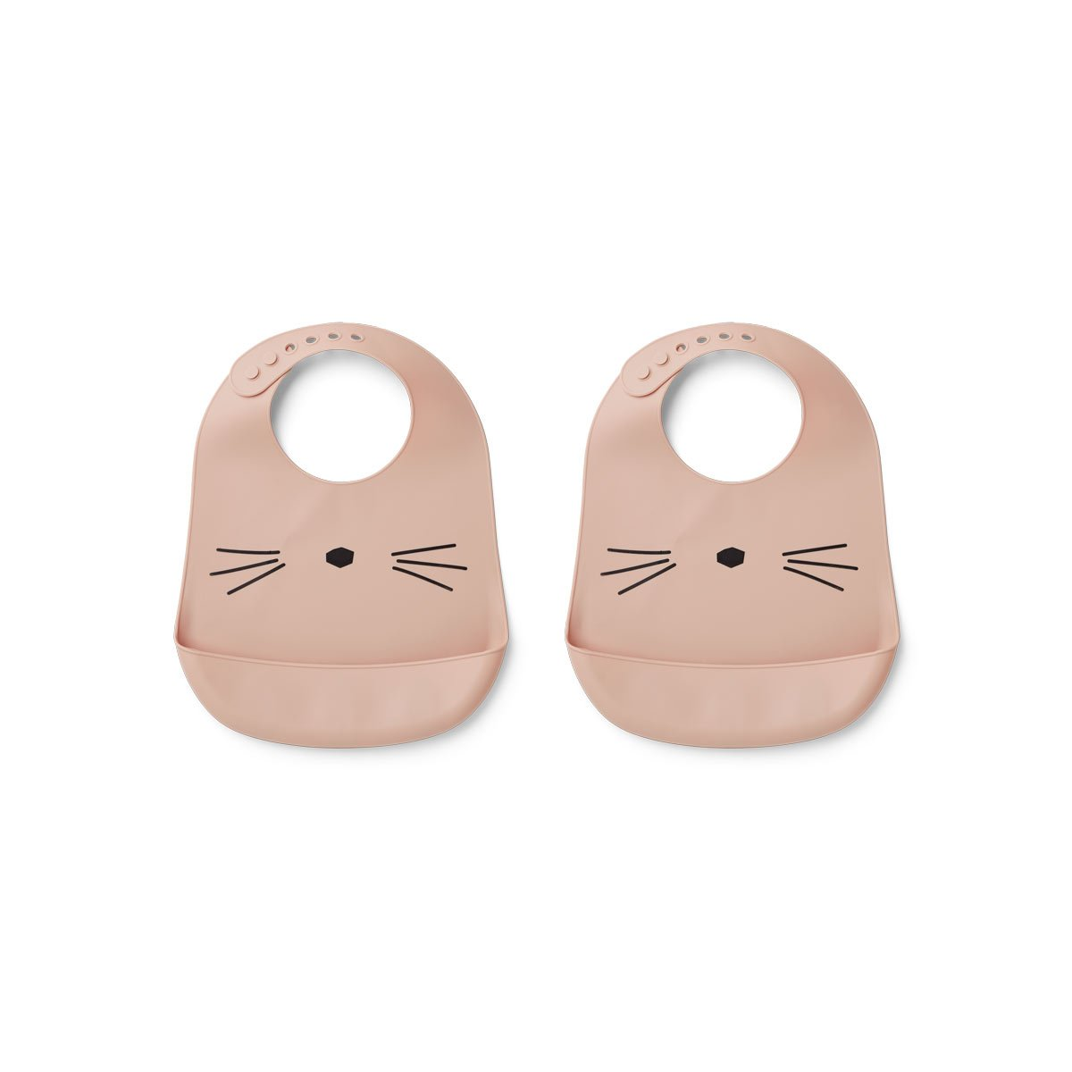 Tilda Silicone Bib 2 Pack - Cat rose