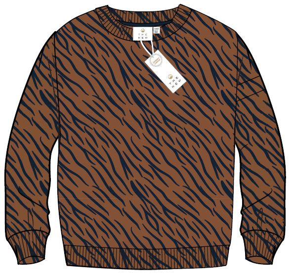 TN Vadrian sweatshirt Toffee