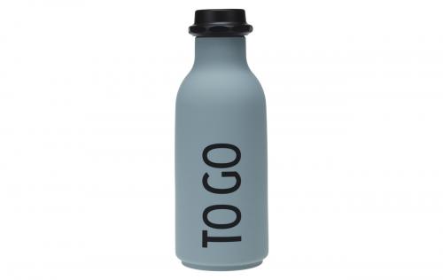 Design Letters - To go vattenflaska grå