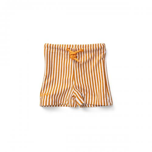 Otto swim pants seersucker - Mustard/white