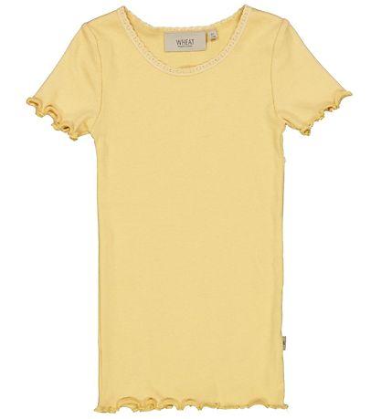 Rib T-Shirt Lace ss - Sahara sun