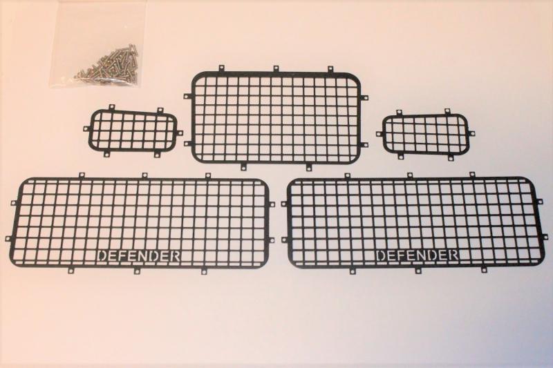 Fönsterskydd Aluminium 5 Delar Traxxas TRX-4 Defender