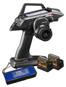 Sanwa M12S-RS Sändare inkl 2 st RX-482 mottagare, Sändare batteri