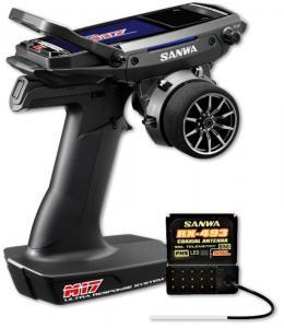 Sanwa M17 Radio + RX-493 Mottagare + Sändarbatteri