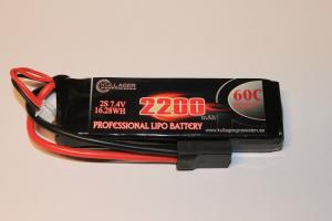 Lipo 2S 7.4V 2200mAh 60C TRX Kontakt Team Enrichpower
