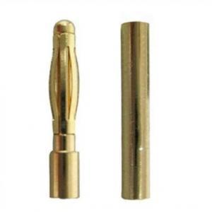 Guldkontakter 2,0mm (1 par)
