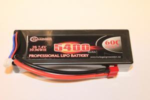 Lipo 2S 7.4V 5400mAh 60C Dean Kontakt Hardcase Enrichpower