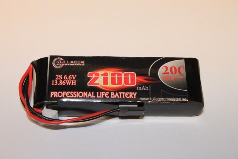 Mottagarbatteri LiFe Rakt 2100mAh 6.6V VBPower