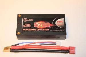 Lipo 2S 7.4V 5200mAh 100C Dean Kontakt Shorty Enrichpower