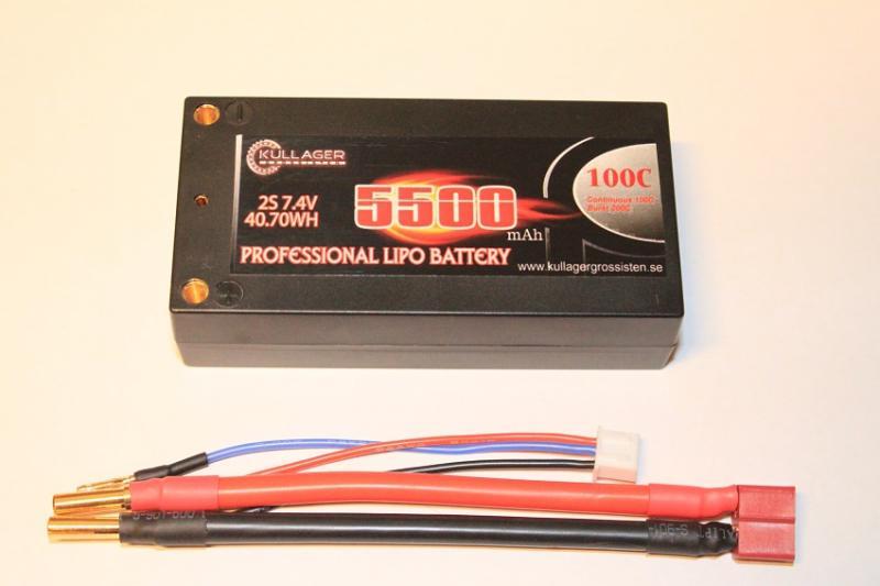 Lipo 2S 7.4V 5500mAh 100C Dean Kontakt Shorty Enrichpower