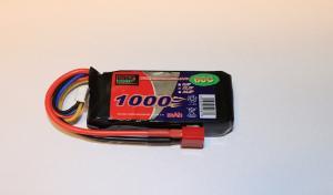 Lipo 3S 11.1V 1000mAh 60C Dean Kontakt