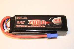 Lipo 3S 11,1v 7000mAh 80C EC5 Team Enrichpower