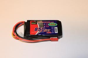 Lipo Batteri 2S 7.4V 850mAh 65C JST Bonka Power