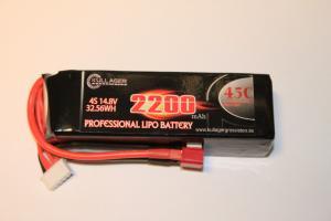 Lipo 4S 14.8V 2200mAh 60C Dean Kontakt Team Enrichpower