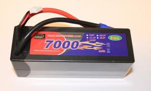 Lipo 4S 14.8V 7000mAh 80C EC5 Kontakt Hardcase
