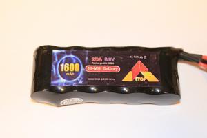 ETOP Power 6,0V 1600mAh Rak modell Ni-MH