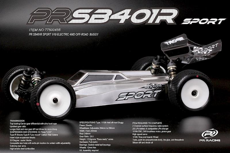 PR SB401-R-Sport 1/10 EL 4wd Off-Road Buggy Byggsats