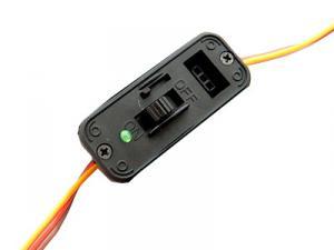 Strömbrytare med ladduttag/LED Futaba. HD