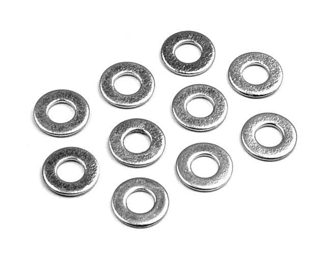 Bricka stål 3.2 mm id (10)