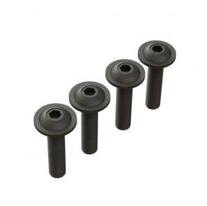 Skruv 4x12mm Button Head med fläns (4 st.)