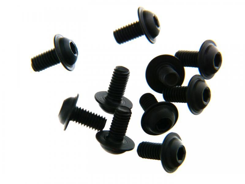 B0761 Skruv Button Head M3x6 med fläns Mugen Seiki