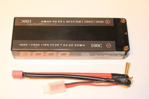 Lipo Batteri 2S 7.6V 8000mAh 100C Bonka Power (Högvolt)