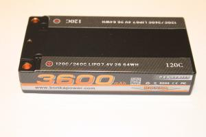 Lipo 7.4V 3100mAh 120C Shorty Pack ULCG Bonka