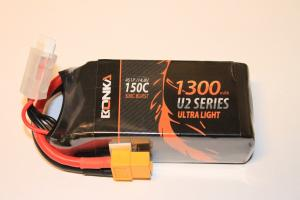 Lipo Batteri 4S 14.8V 1300mAh 150C Bonka Power XT60
