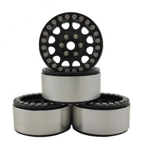 "Fälgar Aluminium Beadlock Crawler 1.9"" Svart/Svart (4 st)"