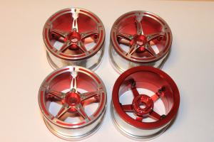 "Fälgar Aluminium Beadlock Crawler 2.2"" Röd/Silver (4 st)"