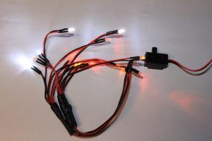LED lampor 12 st. med strömbrytare HobbyDetails