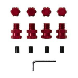 Hex Adapter 17mm +10mm Röd Aluminium Traxxas Maxx