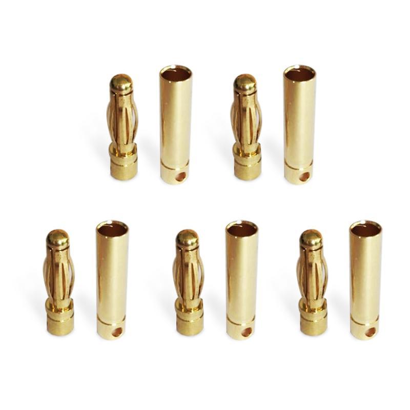 Guldkontakter (Bullet) 4mm 5 par (Hona-Hane).