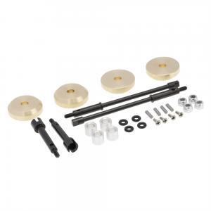 Motvikter Mässing för hjul med breddande (+4mm) drivaxlar Stål Axial SCX24