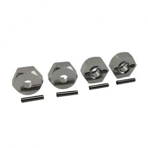 Hex Adapter 12x5mm Aluminium 4 st.
