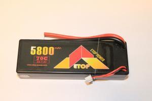 Lipo 2S 7.4V 5800mAh 70C Dean Kontakt Hardcase