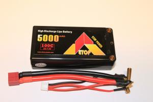 Lipo Batteri 7.4V 5000mAh 100C Shorty ETOP Power